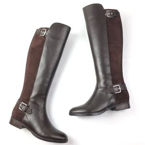 MARC FISHER Damsel Riding 7  brown suede leather